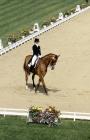 Picture of anne-grethe jensen riding marzog, denmark, dressage at goodwood